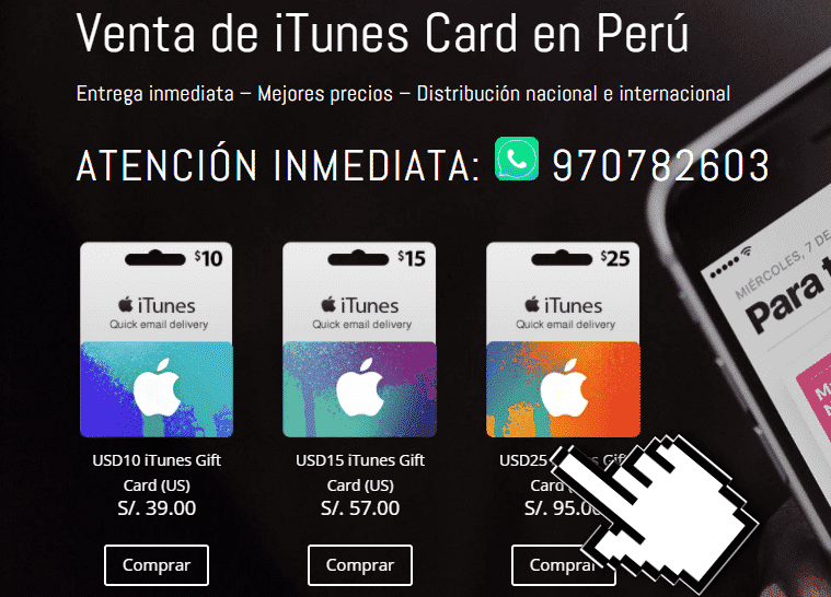 Itunes card peru paso 2